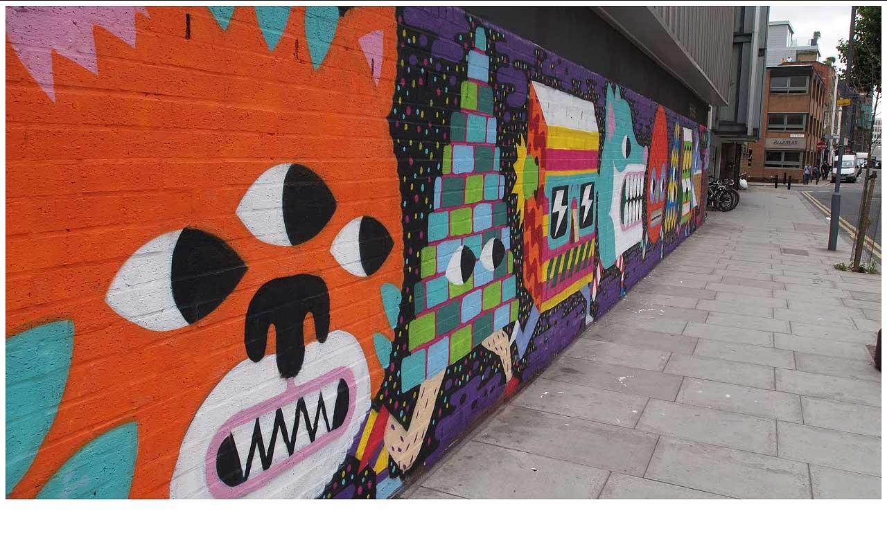 MALARKY STREET ART ON REDCHURCH STREET